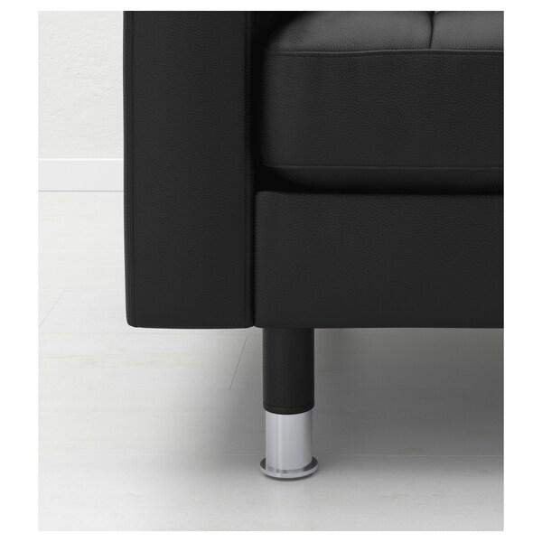 LANDSKRONA Lepotuoli, Grann/Bomstad musta/metalli