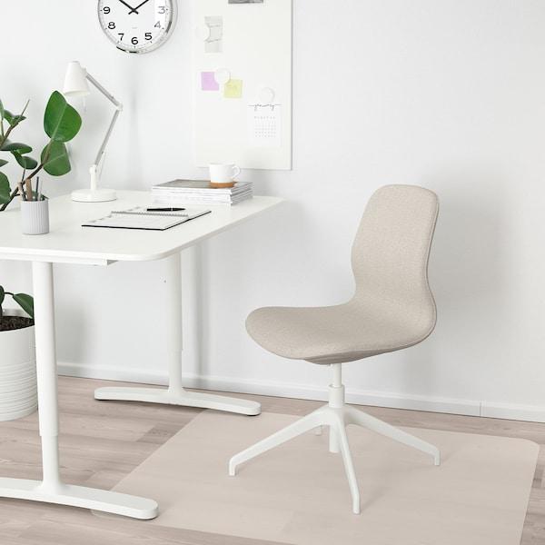 LÅNGFJÄLL Kokoustuoli, Gunnared beige/valkoinen
