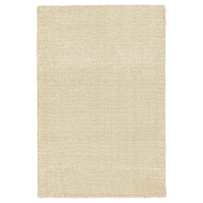 LANGSTED Matto, matala nukka, beige, 60x90 cm
