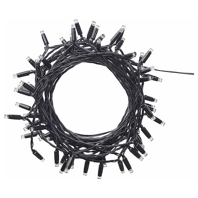 LEDLJUS Led-valosarja, 64 lamppua, ulkokäyttöön musta