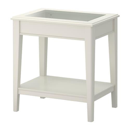 LIATORP Apupöytä  valkoinen lasi  IKEA