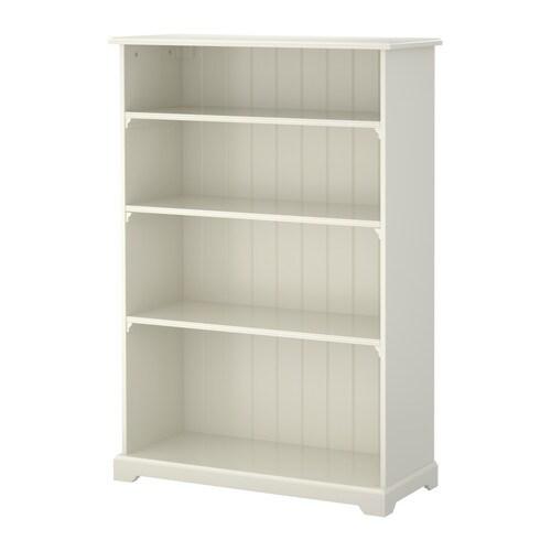 LIATORP Kirjahylly IKEA 3 siirrettävää hyllylevyä. Hyllyvälejä voi säätää tarpeen mukaan.