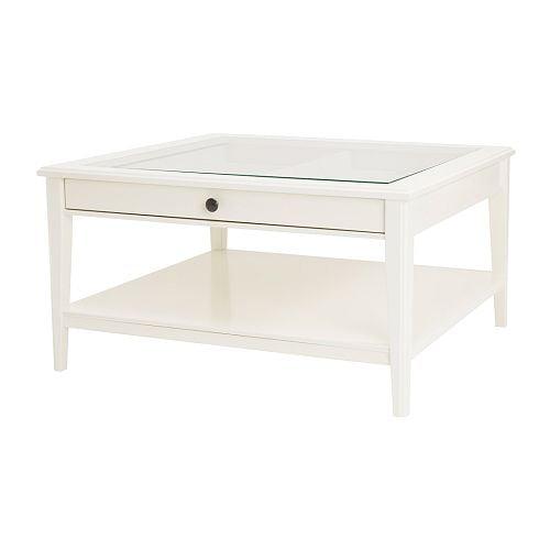 LIATORP Sohvapöytä  valkoinen lasi  IKEA