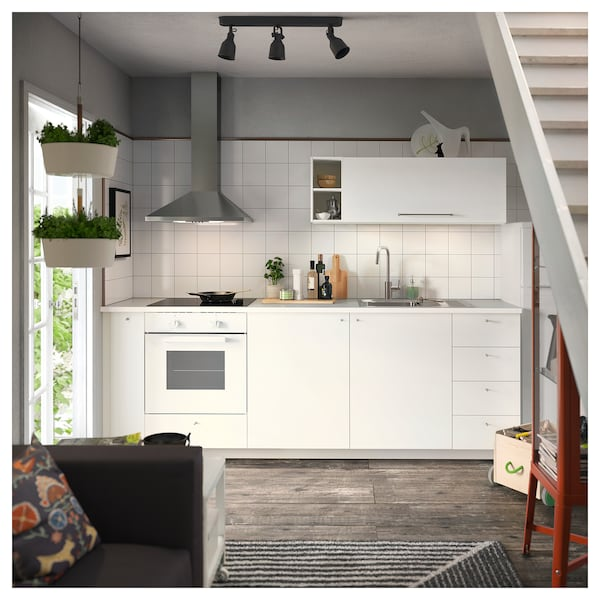 LILLTRÄSK Työtaso, valkoinen/laminaatti, 186x2.8 cm