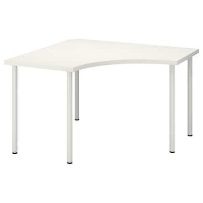 LINNMON / ADILS kulmapöytä valkoinen 120 cm 120 cm 74 cm 50 kg