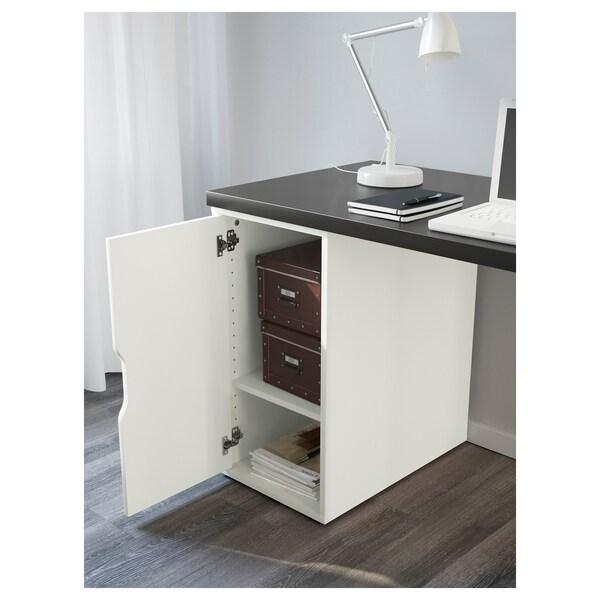 LINNMON / ALEX pöytä mustanruskea/valkoinen 120 cm 60 cm 74 cm