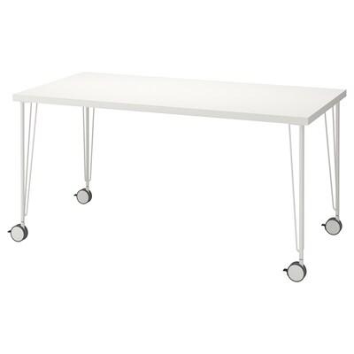 LINNMON / KRILLE pöytä valkoinen 150 cm 75 cm 74 cm 50 kg