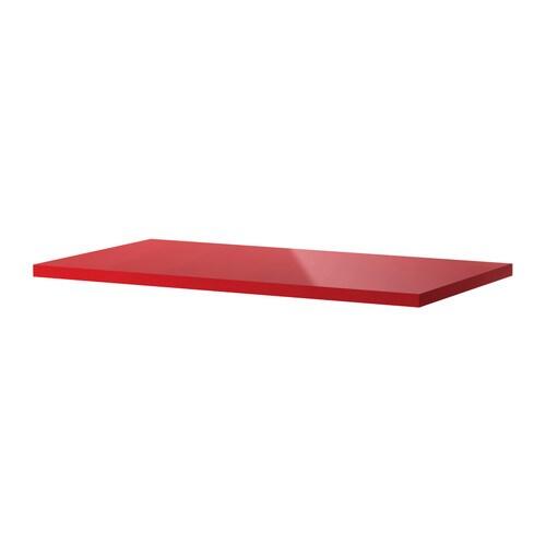 LINNMON Pöytälevy  korkeakiilto punainen  IKEA