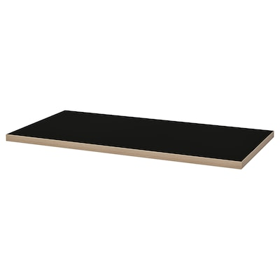 LINNMON pöytälevy musta/vaneri 120 cm 60 cm 3.4 cm 50 kg