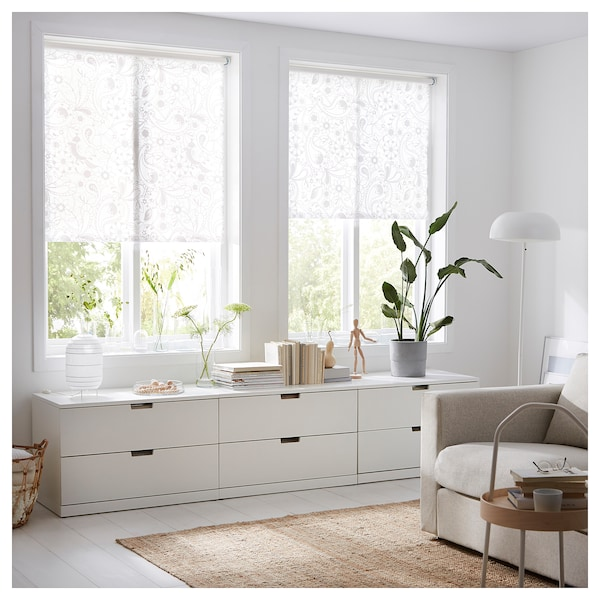 LISELOTT Rullaverho, valkoinen, 120x195 cm