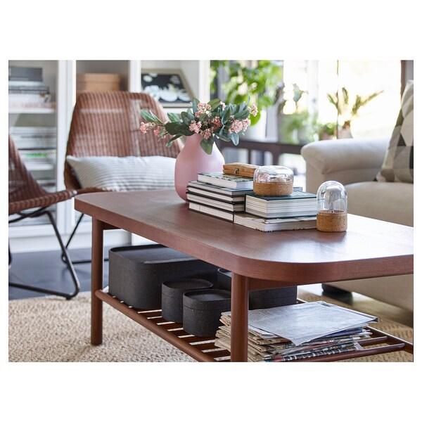 LISTERBY Sohvapöytä, ruskea, 140x60 cm
