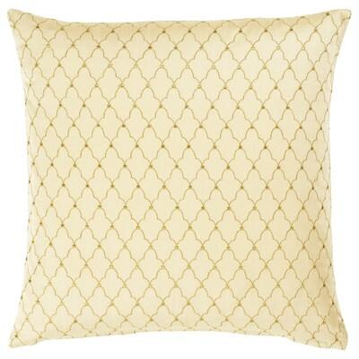 LJUVARE Tyynynpäällinen, kirjottu beige, 50x50 cm