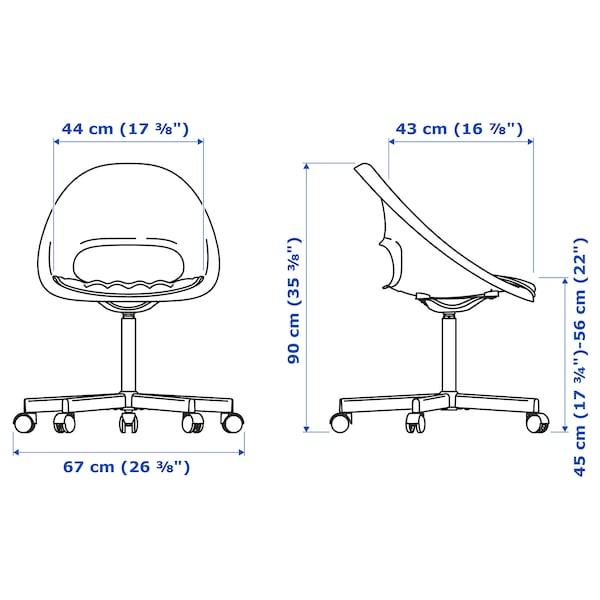 LOBERGET / BLYSKÄR Tuoli + tyyny, valkoinen/tummanharmaa