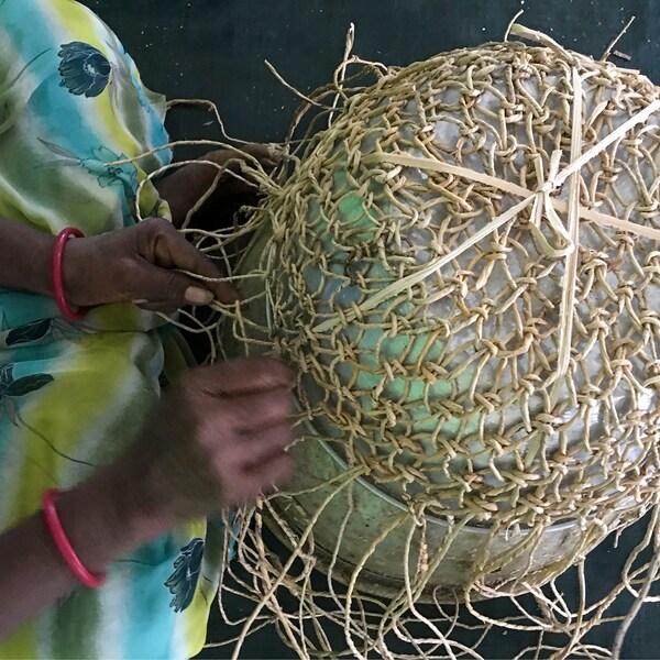 LOKALT Kori, banaanikuitu/käsin tehty, 20 cm