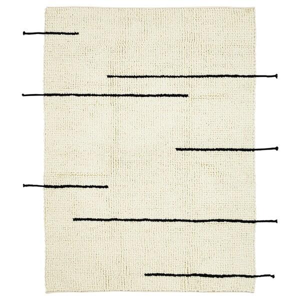 LOKALT Matto, luonnonvärinen musta/käsin tehty, 133x195 cm