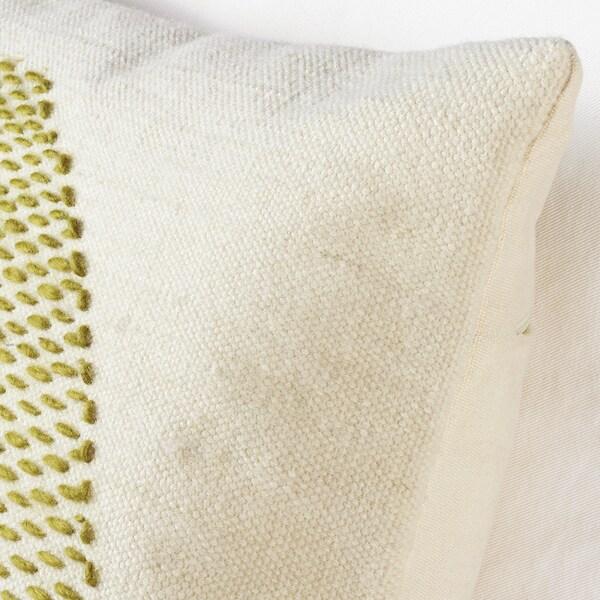 LOKALT Tyynynpäällinen, luonnonvärinen vihreä/käsin tehty, 50x50 cm