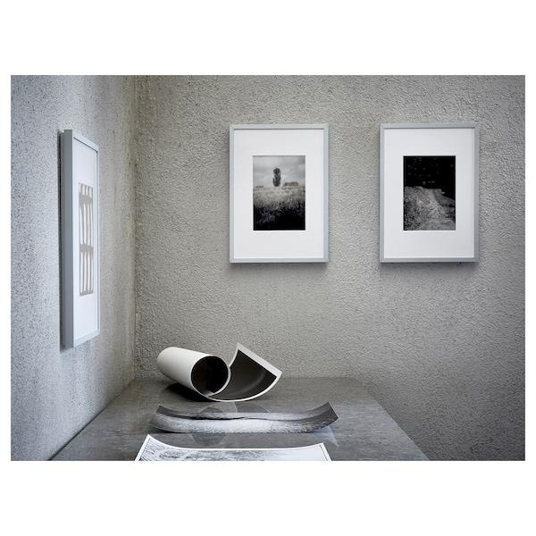 LOMVIKEN Kehys ja kehyskartonki, alumiini, 50x70 cm