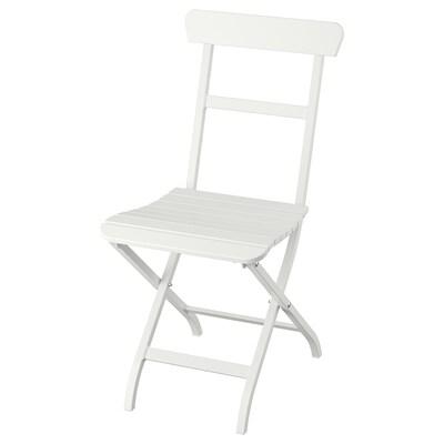 MÄLARÖ Tuoli, ulkokäyttöön, kokoontaitettava valkoinen