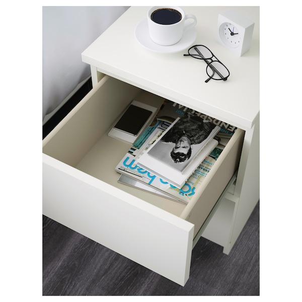 MALM Lipasto, 2 laatikkoa, valkoinen, 40x55 cm