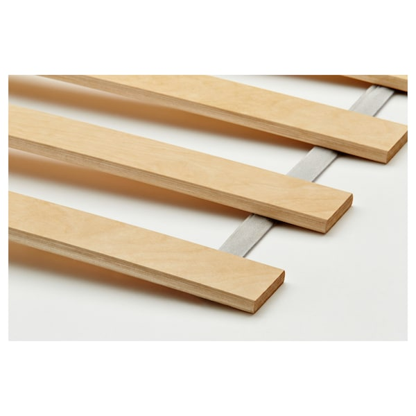MALM Sängynrunko, jossa 2 laatik, vaaleaksi petsattu tammiviilu/Luröy, 140x200 cm