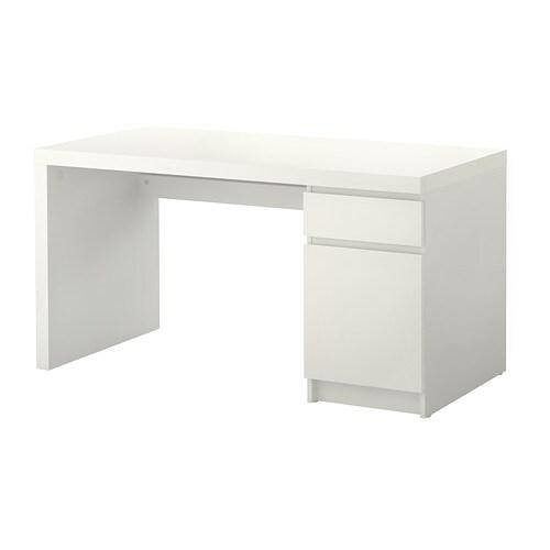 MALM Työpöytä  valkoinen  IKEA