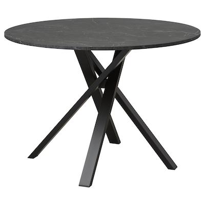 MARIEDAMM Pöytä, musta marmorikuvio, 105 cm