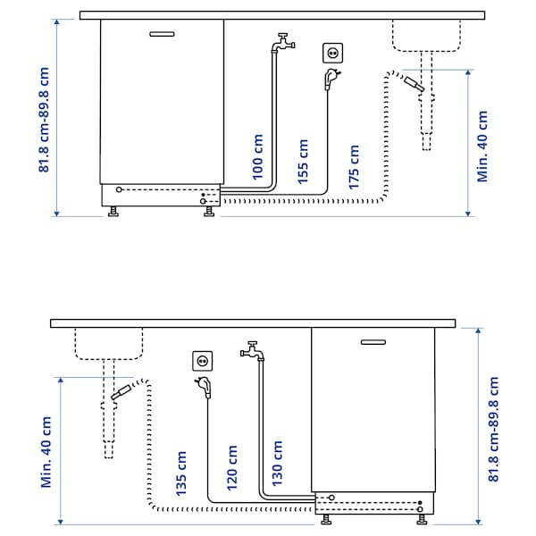 MEDELSTOR Integroitava astianpesukone, IKEA 500, 45 cm