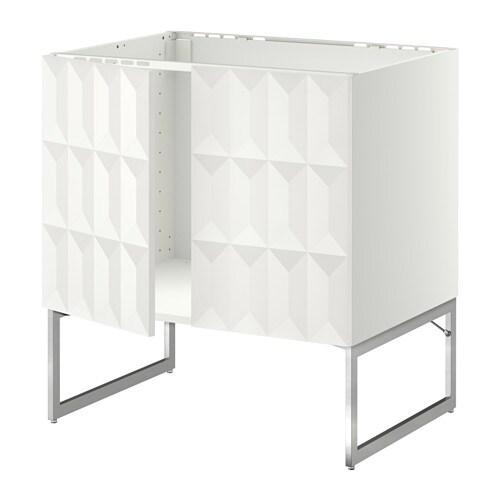 METOD Allaskaappi + 2 ovea  Herrestad valkoinen  IKEA