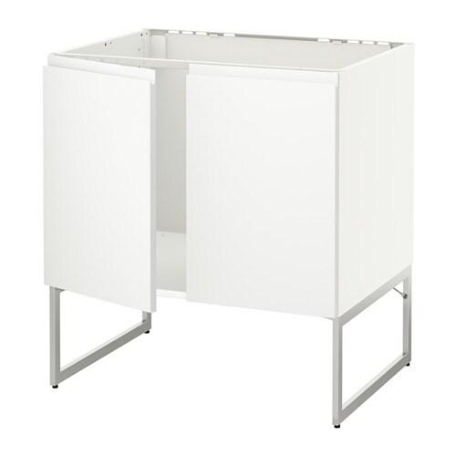 METOD Allaskaappi + 2 ovea  Voxtorp valkoinen  IKEA