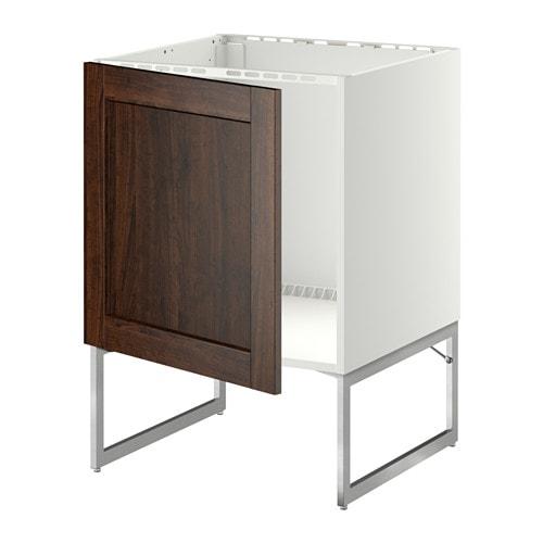 METOD Allaskaappi  , Edserum puukuvioitu ruskea  IKEA