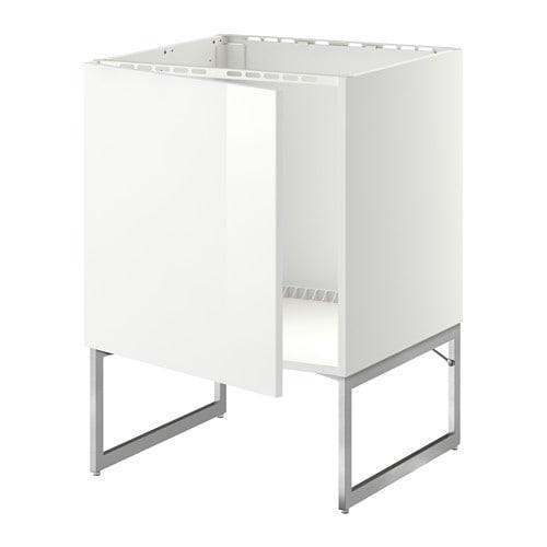 METOD Allaskaappi  Ringhult korkeakiilto valkoinen  IKEA