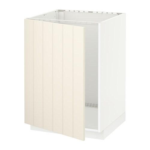 METOD Allaskaappi  valkoinen, Hittarp luonnonvalkoinen  IKEA