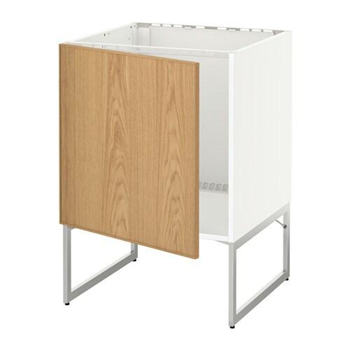 METOD Allaskaappi  Ekestad tammi  IKEA