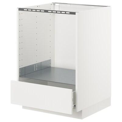METOD / FÖRVARA pöytäkaappi uunille/lt valkoinen/Häggeby valkoinen 60.0 cm 61.6 cm 88.0 cm 60.0 cm 80.0 cm
