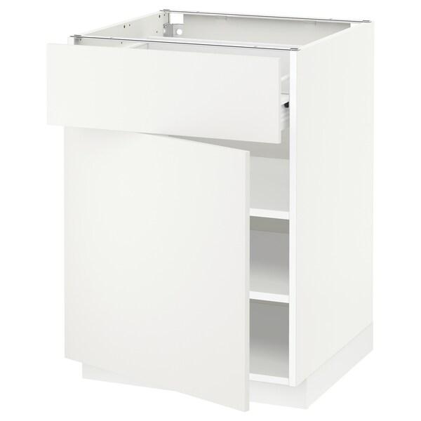 METOD / FÖRVARA pöytäkaappi laatikolla ja ovella valkoinen/Häggeby valkoinen 60.0 cm 61.6 cm 88.0 cm 60.0 cm 80.0 cm