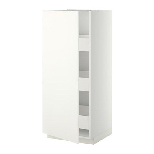 METOD  FÖRVARA Korkea kaappi, laatikot  valkoinen, Häggeby valkoinen  IKEA
