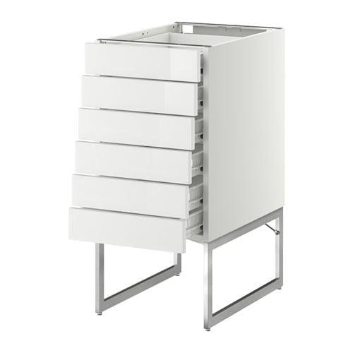 METOD  FÖRVARA Pöytäkaappi 6 esrj 6 mat laat  valkoinen, Ringhult korkeakii