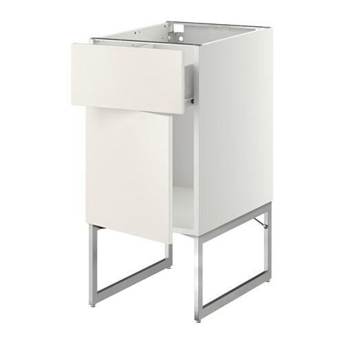 METOD  FÖRVARA Pöytäkaappi + laatikko ovi  Veddinge valkoinen, 40x60x60 cm