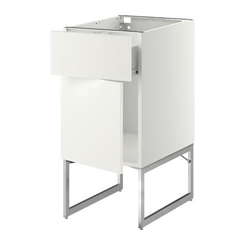METOD  FÖRVARA Pöytäkaappi + laatikko ovi  Häggeby valkoinen, 40x60x60 cm
