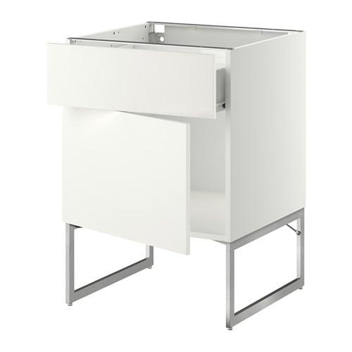 METOD  FÖRVARA Pöytäkaappi + laatikko ovi  Häggeby valkoinen, 60x60x60 cm