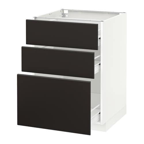 metod f rvara p yt kaappi 3 laatikkoa valkoinen kungsbacka antrasiitti 60x60 cm ikea. Black Bedroom Furniture Sets. Home Design Ideas