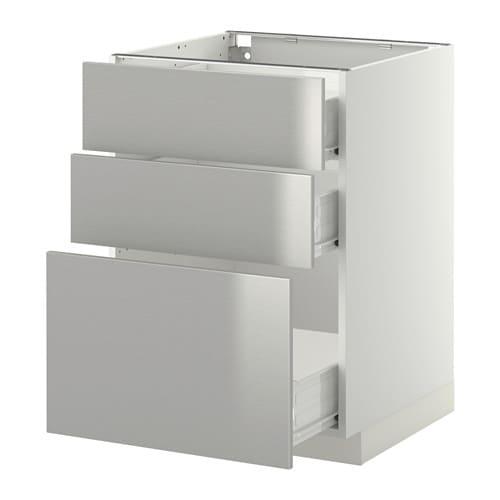 METOD  FÖRVARA Pöytäkaappi + 3 laatikkoa  valkoinen