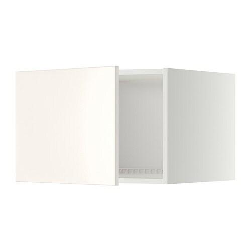 METOD Jää pakastinkaapin yläkaappi  valkoinen, Veddinge valkoinen, 60×40 cm