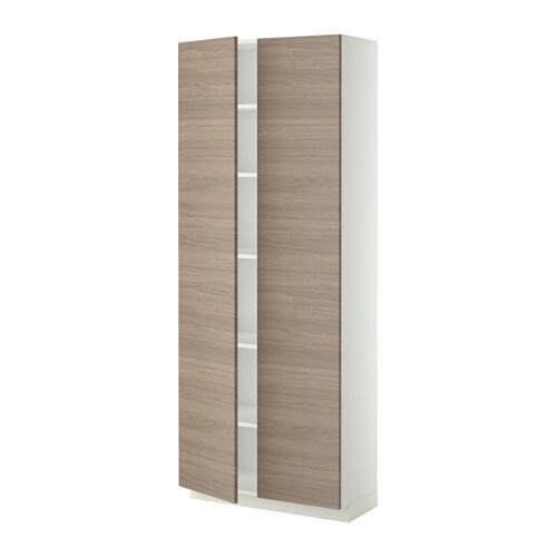Ikea Malm Upholstered Headboard ~ METOD Korkea kaappi hyllylevyillä  80x37x200 cm, valkoinen, Brokhult
