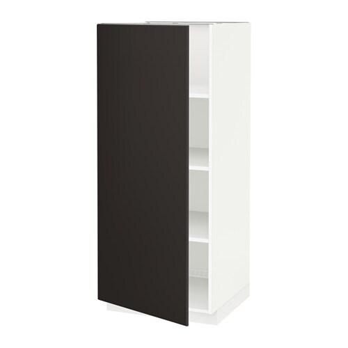 Ikea Malm Upholstered Headboard ~ METOD Korkea kaappi hyllylevyillä  valkoinen, Kungsbacka antrasiitti