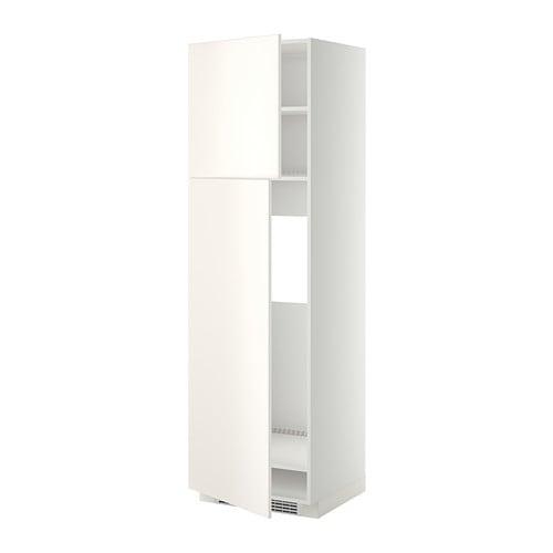 Ikea Godmorgon Korkea Kaappi ~ METOD Korkea kaappi jääkaapille 2ovea  valkoinen, Veddinge