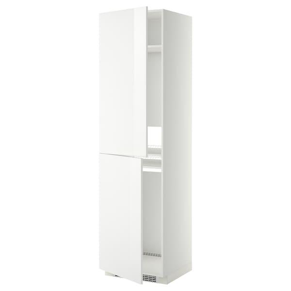 METOD Korkea kaappi jää-/pakastinkaap, valkoinen/Ringhult valkoinen, 60x60x220 cm