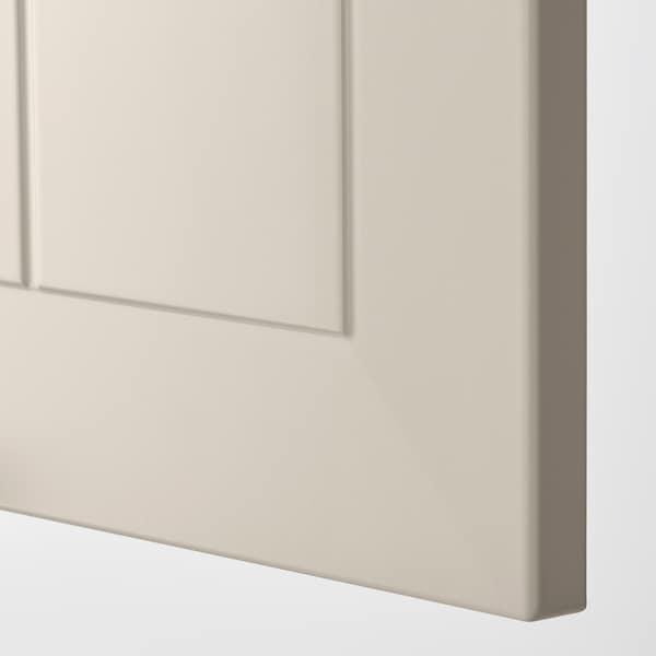 METOD Korkea kaappi jääkaap/pakastimelle, valkoinen/Stensund beige, 60x60x220 cm