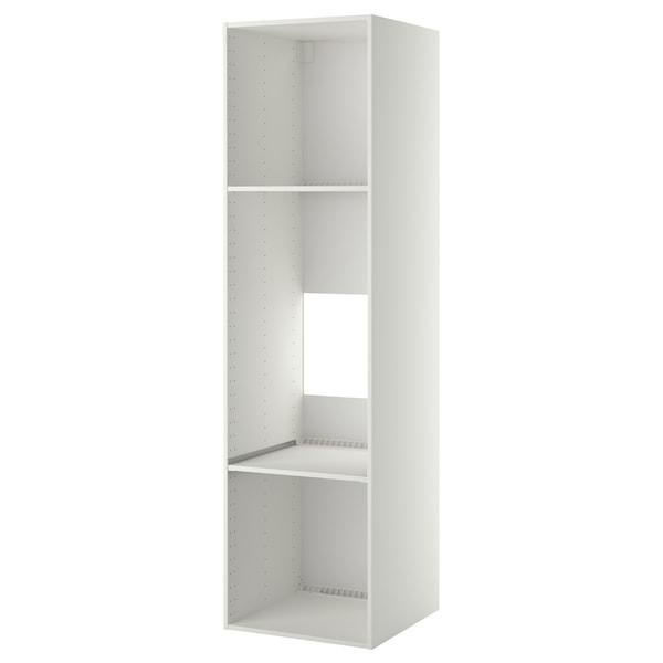 METOD Korkea kaappi jääkaap/uunille, valkoinen, 60x60x220 cm