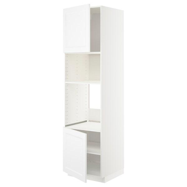 METOD Korkea kaappi uunille/mikr 2 lt/hl, valkoinen/Axstad matta valkoinen, 60x60x220 cm
